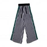 綠邊直間啪鈕闊褲