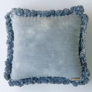 藍色洗水蘇圍邊cushion坐墊