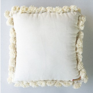 白色洗水蘇圍邊cushion坐墊