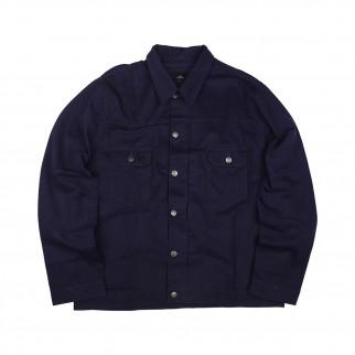 藍色trucker斜紋布外套