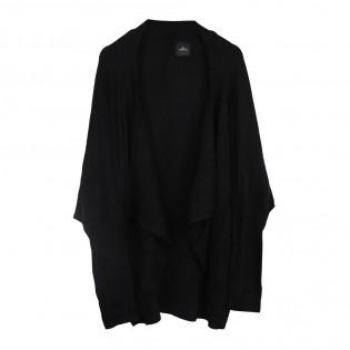 黑色蝙蝠袖針織外套