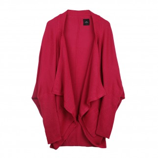 粉色蝙蝠袖針織外套