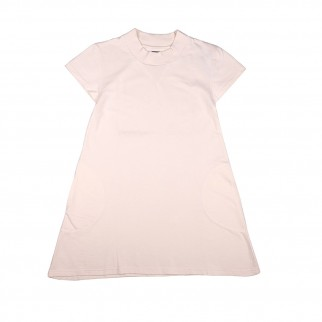 米白色短袖A line衛衣裙