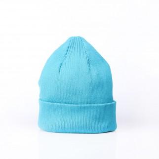 彩藍色百搭針織冷帽