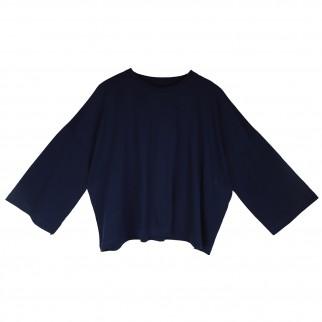 藍色寬鬆型格長袖Tee