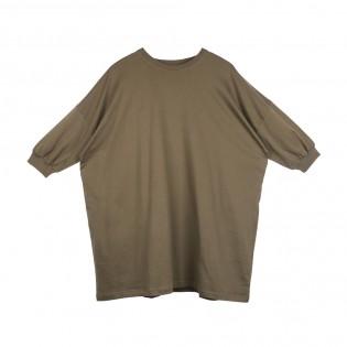 軍綠色Oversized Tee裙