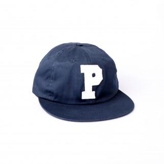 藍色P字布章棒球帽