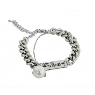 型格粗手鏈配珍珠