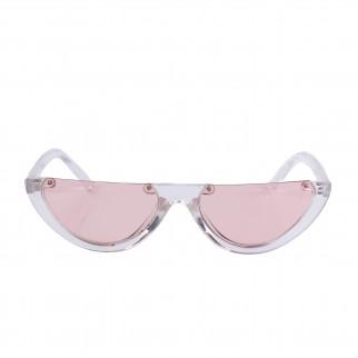 半框透明三角貓眼眼鏡