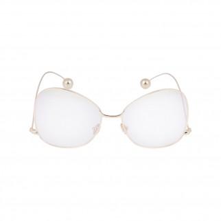 金色金屬框復古眼鏡