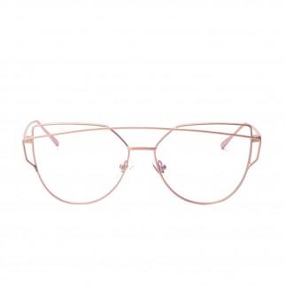 粉紅色金絲框起角復古眼鏡
