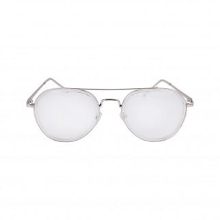 透明銀框個性造型眼鏡
