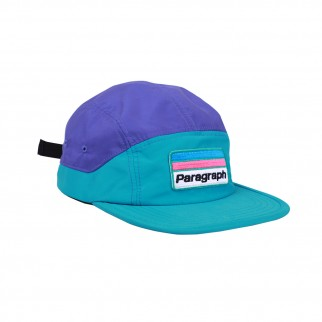 雙藍拼色鴨嘴帽