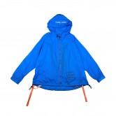 藍色風褸連背包帶