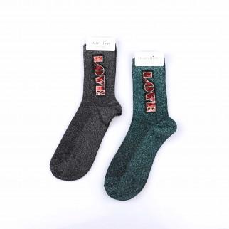 LOVE貼章bling bling襪