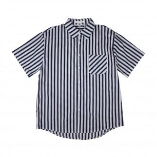 白藍直間短袖恤衫