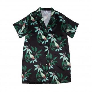 綠色長身夏威夷恤