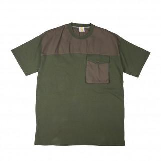Oversized軍綠色口袋上衣